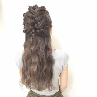 愛され モテ髪 大人かわいい 編み込み ヘアスタイルや髪型の写真・画像