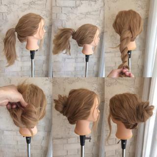 ヘアアレンジ ショート ロング 簡単ヘアアレンジ ヘアスタイルや髪型の写真・画像