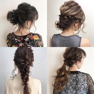 結婚式 透明感 秋 セミロング ヘアスタイルや髪型の写真・画像
