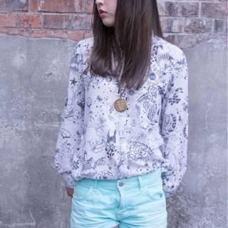 ストリート 暗髪 ダークアッシュ グレー ヘアスタイルや髪型の写真・画像