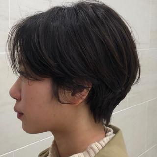 ショート ベリーショート ナチュラル 横顔美人 ヘアスタイルや髪型の写真・画像