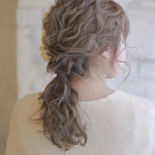 結婚式 大人かわいい ヘアアレンジ パーティ ヘアスタイルや髪型の写真・画像