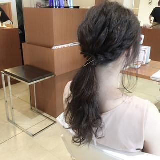 簡単ヘアアレンジ 大人かわいい ロング ヘアアレンジ ヘアスタイルや髪型の写真・画像 ヘアスタイルや髪型の写真・画像
