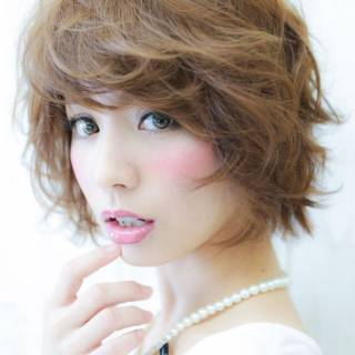 ナチュラル ゆるふわ 愛され ショート ヘアスタイルや髪型の写真・画像 ヘアスタイルや髪型の写真・画像
