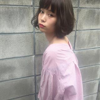 ボブ 女子会 ナチュラル ウェーブ ヘアスタイルや髪型の写真・画像