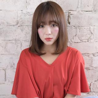 ミディアム 艶髪 美髪 トリートメント ヘアスタイルや髪型の写真・画像
