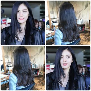 韓国ヘア 簡単ヘアアレンジ セミロング オルチャン ヘアスタイルや髪型の写真・画像