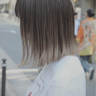 イルミナカラー 外国人風 ブリーチ ボブ ヘアスタイルや髪型の写真・画像 ヘアスタイルや髪型の写真・画像