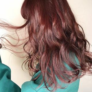 バレンタイン ピンク ラベンダー ナチュラル ヘアスタイルや髪型の写真・画像