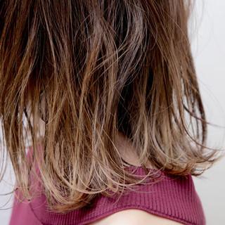 大人かわいい デート グラデーションカラー オフィス ヘアスタイルや髪型の写真・画像