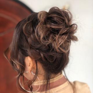 フェミニン ふわふわヘアアレンジ 結婚式ヘアアレンジ 大人可愛い ヘアスタイルや髪型の写真・画像