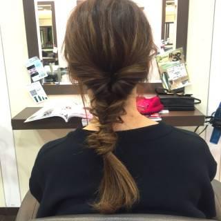 ナチュラル ポニーテール ショート ヘアアレンジ ヘアスタイルや髪型の写真・画像