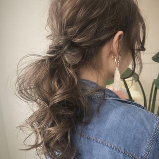 ヘアアレンジ 夏 アウトドア 大人かわいい ヘアスタイルや髪型の写真・画像