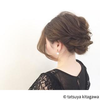 結婚式 ゆるふわ エレガント ヘアアレンジ ヘアスタイルや髪型の写真・画像