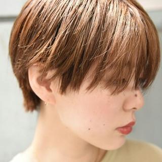 前髪あり 外国人風 ハイトーン ショート ヘアスタイルや髪型の写真・画像