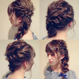ヘアアレンジ 上品 エレガント 編み込み ヘアスタイルや髪型の写真・画像 ヘアスタイルや髪型の写真・画像