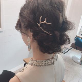 秋 ミディアム デート 透明感 ヘアスタイルや髪型の写真・画像