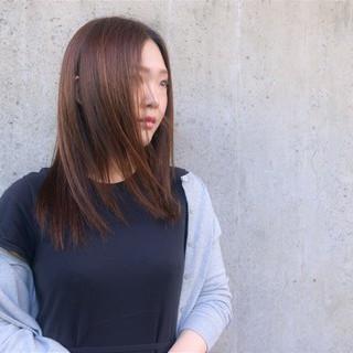 ロング 縮毛矯正 ナチュラル 梅雨 ヘアスタイルや髪型の写真・画像
