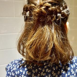 ボブ ヘアアレンジ ナチュラル 春 ヘアスタイルや髪型の写真・画像