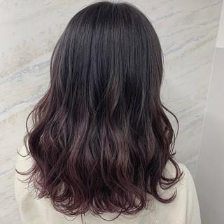 グラデーションカラー フェミニン ダブルカラー イルミナカラー ヘアスタイルや髪型の写真・画像