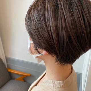 ナチュラル ミニボブ ベリーショート ショートヘア ヘアスタイルや髪型の写真・画像