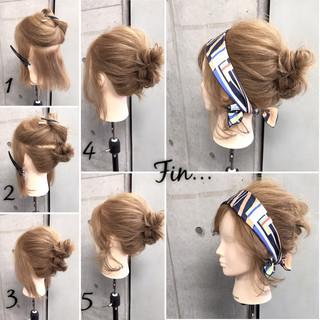 大人女子 ヘアアクセ ボブ 簡単 ヘアスタイルや髪型の写真・画像