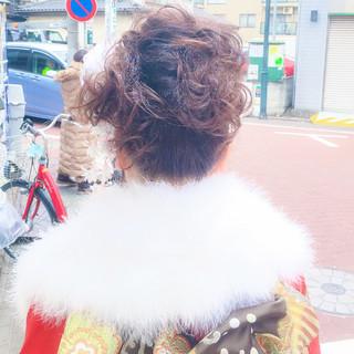 アップスタイル ヘアアレンジ 成人式 ロング ヘアスタイルや髪型の写真・画像