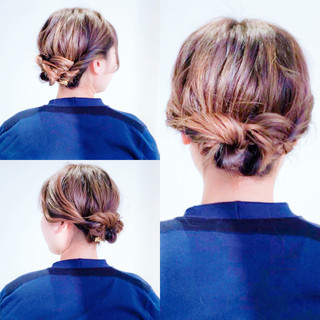 簡単ヘアアレンジ ヘアアレンジ ロング セルフヘアアレンジ ヘアスタイルや髪型の写真・画像