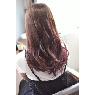 透明感 インナーカラー グラデーションカラー ガーリー ヘアスタイルや髪型の写真・画像