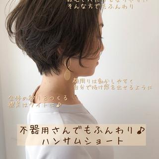 ナチュラル ショート モテ髪 大人可愛い ヘアスタイルや髪型の写真・画像