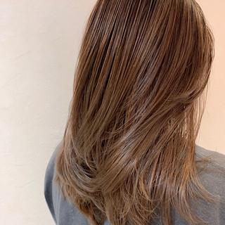 極細ハイライト 3Dハイライト エレガント ロング ヘアスタイルや髪型の写真・画像