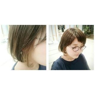 オン眉 ハイライト ボブ フリンジバング ヘアスタイルや髪型の写真・画像 ヘアスタイルや髪型の写真・画像