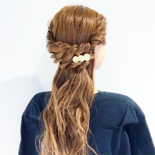 謝恩会 デート ロング フェミニン ヘアスタイルや髪型の写真・画像