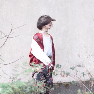 ボブ 外国人風 ウェットヘア ストリート ヘアスタイルや髪型の写真・画像
