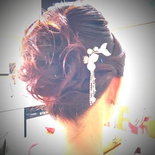 結婚式 エレガント 和装髪型 和装ヘア ヘアスタイルや髪型の写真・画像