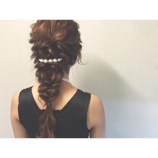 大人かわいい ロング ショート 編み込み ヘアスタイルや髪型の写真・画像