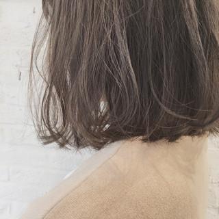 アウトドア オフィス ミディアム ゆるふわ ヘアスタイルや髪型の写真・画像