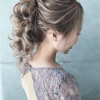エレガント 結婚式 大人かわいい パーティ ヘアスタイルや髪型の写真・画像