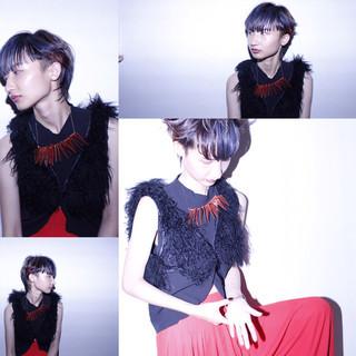 暗髪 外国人風 モード 黒髪 ヘアスタイルや髪型の写真・画像