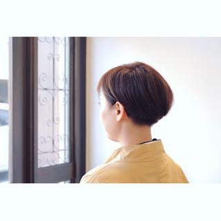 ハンサムショート ナチュラル 刈り上げ女子 ベリーショート ヘアスタイルや髪型の写真・画像