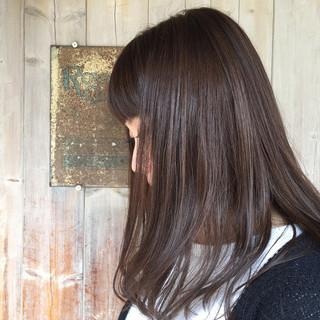 アッシュグレージュ くすみカラー 冬 アッシュベージュ ヘアスタイルや髪型の写真・画像