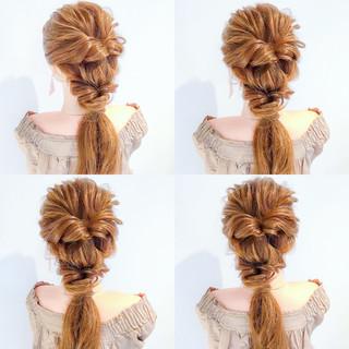 ヘアアレンジ ロング フェミニン リラックス ヘアスタイルや髪型の写真・画像
