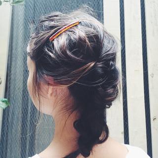 大人かわいい ヘアアレンジ ショート ストリート ヘアスタイルや髪型の写真・画像