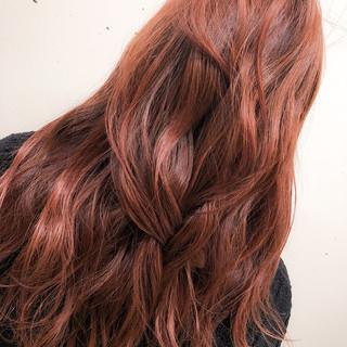 グラデーションカラー セミロング ブリーチ ストリート ヘアスタイルや髪型の写真・画像