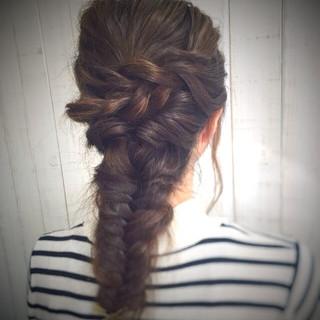 波ウェーブ 簡単ヘアアレンジ ロープ編み ショート ヘアスタイルや髪型の写真・画像 ヘアスタイルや髪型の写真・画像