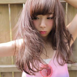 ピンク 大人かわいい ストリート 爽やか ヘアスタイルや髪型の写真・画像