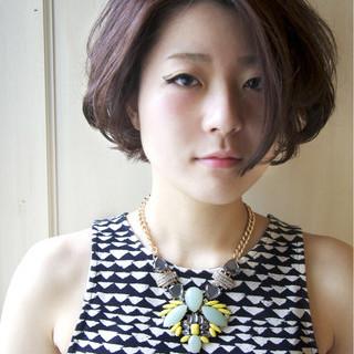アッシュ パーマ モード 外国人風 ヘアスタイルや髪型の写真・画像