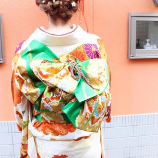 パールアクセ 編み込み ヘアアレンジ ヘアピン ヘアスタイルや髪型の写真・画像