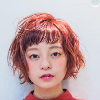 フェミニン くせ毛風 ゆるふわ パーマ ヘアスタイルや髪型の写真・画像