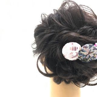 結婚式 デート ヘアアレンジ フェミニン ヘアスタイルや髪型の写真・画像